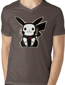 Skel-pika Mens V-Neck T-Shirt