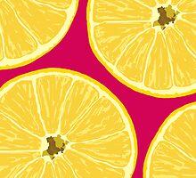 lemons dark pink by hennydesigns