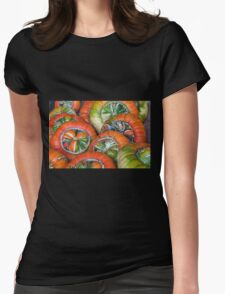 Wheels - or pumpkins Womens Fitted T-Shirt