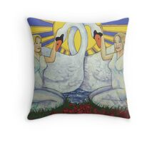 Leda and the Swan detail Throw Pillow