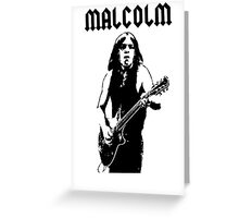 ACDC Malcolm Young Guitar Greeting Card