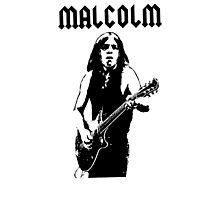 ACDC Malcolm Young Guitar Photographic Print
