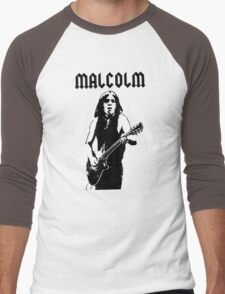 ACDC Malcolm Young Guitar Men's Baseball ¾ T-Shirt