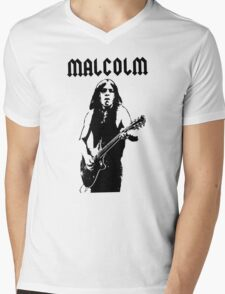 ACDC Malcolm Young Guitar Mens V-Neck T-Shirt