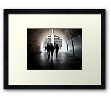 Tunnel Visions Framed Print