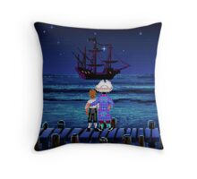 Guybrush & Stan (Monkey Island) Throw Pillow