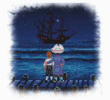Guybrush & Stan (Monkey Island) One Piece - Short Sleeve