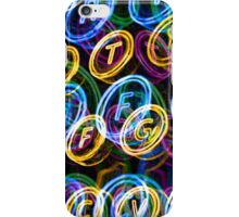 Colourful neon typewriter keys iPhone Case/Skin