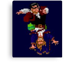 Largo LaGrande and Guybrush (Monkey Island 2) Canvas Print