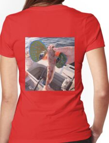 Funny Flying Fish Womens Fitted T-Shirt