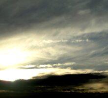 Cloudy day in Wagga Sticker