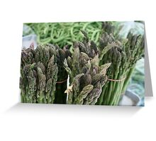 Standing Asparagus Greeting Card