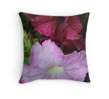 Dew on Twins Throw Pillow