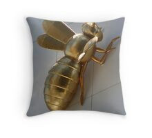 Skyscraping Bee Throw Pillow