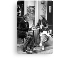 Le Conversation Canvas Print