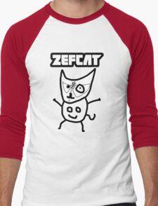 Zef Cat Men's Baseball ¾ T-Shirt