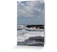 Rough Waters in Newport, RI Greeting Card