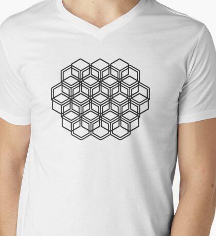 Illusion Mens V-Neck T-Shirt