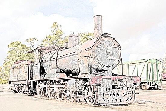 Rusting Steam Train 2 by John Wallace