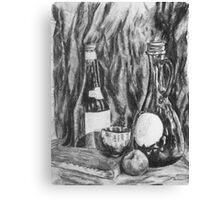 Charcoal Still Life Canvas Print