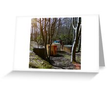 WWII Tank Traps Greeting Card