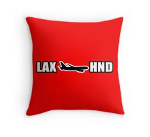 LAX to HND Throw Pillow