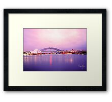 Sunset with operahouse Framed Print