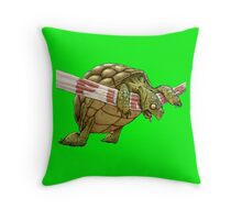 turtle's race Throw Pillow