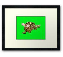 turtle's race Framed Print