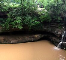 Upper Falls, Old Man's Cave, Hocking Hills by Expressions &  Reflections