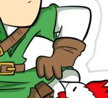 Link: Hero of Chickens Sticker
