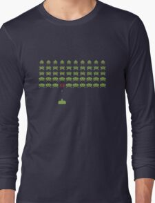 Space Invaders Long Sleeve T-Shirt