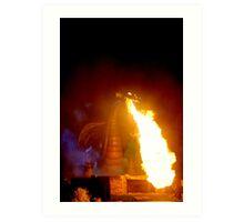 Fire Dragon At Disneyland Art Print