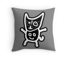 black ZEFCAT Throw Pillow
