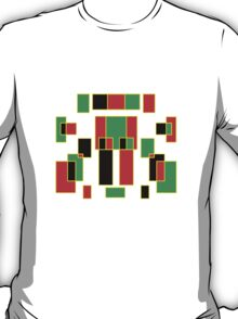 red, green, yellow & black T-Shirt