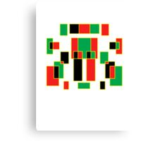 red, green, yellow & black Canvas Print