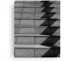 Abstract Stairs in B&W  Canvas Print