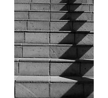 Abstract Stairs in B&W  Photographic Print