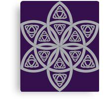 Celtic Pattern: Simple Star Canvas Print