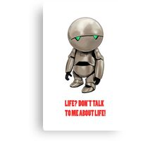 Marvin The Hitchhiker's Guide to the Galaxy Canvas Print