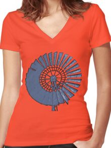 Windmill Women's Fitted V-Neck T-Shirt