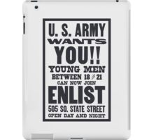 US Army Wants You -- WWI  iPad Case/Skin