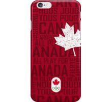 We All Play for Canada (Red) iPhone Case/Skin