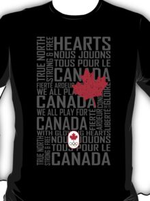 We All Play for Canada (Black) T-Shirt