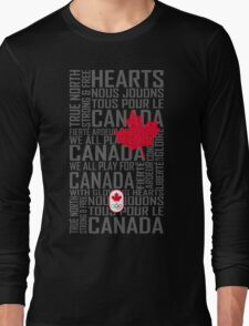 We All Play for Canada (Black) Long Sleeve T-Shirt