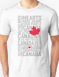 We All Play for Canada (White) Unisex T-Shirt