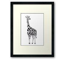 Line drawing Giraffe Framed Print