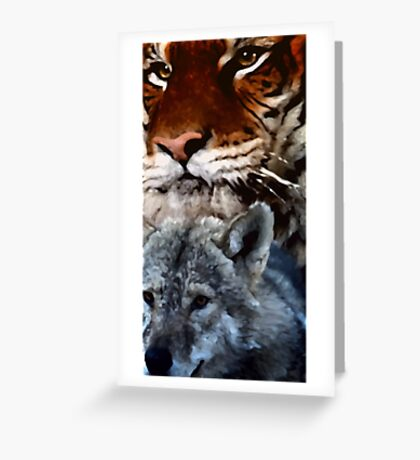 Tiger and Wolf Greeting Card