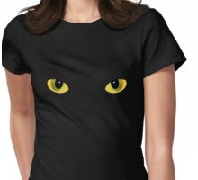 Cat's Eyes Womens Fitted T-Shirt