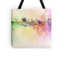 London skyline in watercolor background Tote Bag